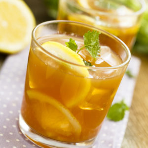 Passion fruit and honey iced tea
